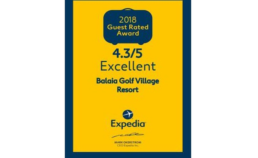 GUEST RATED AWARD 2018 Hotel Balaia Golf Village Resort & Golf Albufeira