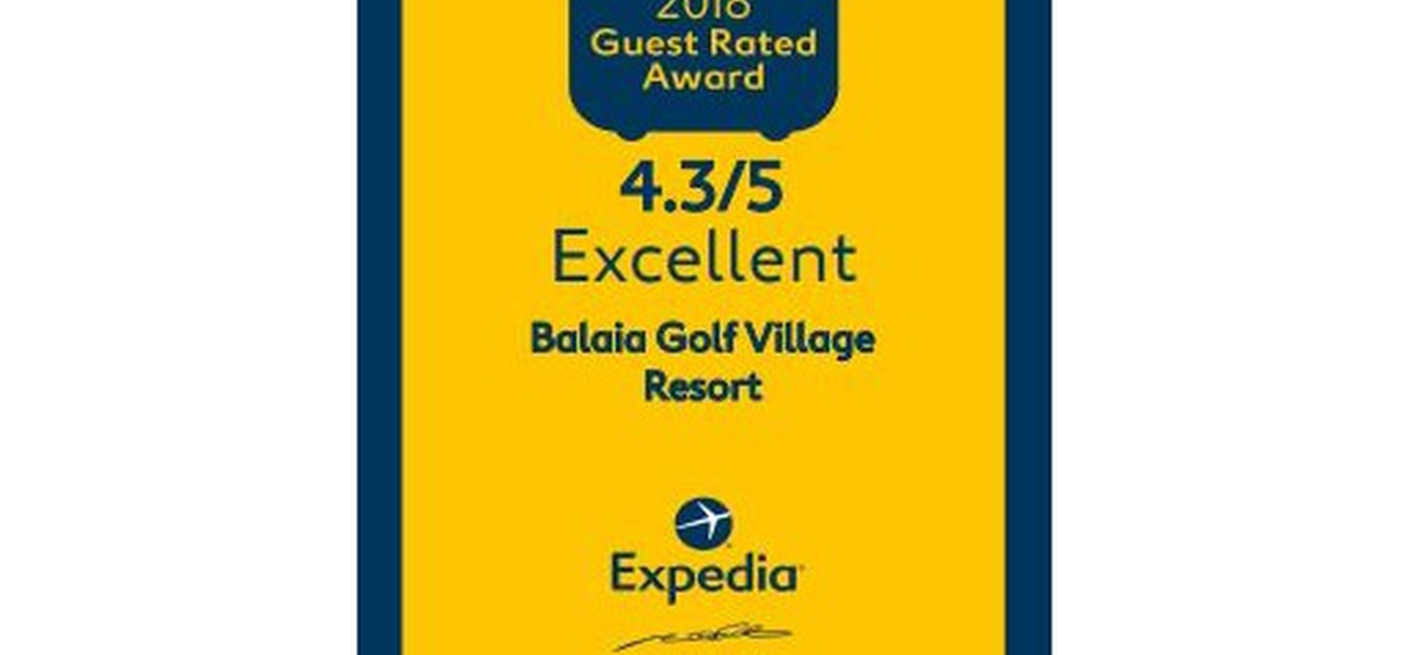 GUEST RATED AWARD 2018 Hotel Balaia Golf Village Albufeira